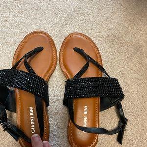Gianni Bini black summer sandals
